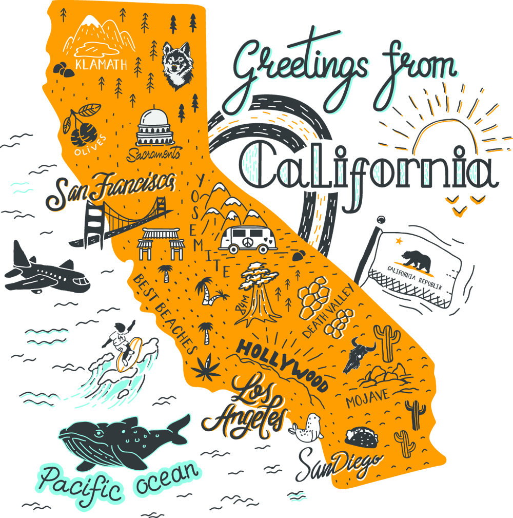 carte californie